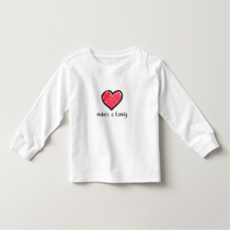 love makes a family (toddler) toddler t-shirt