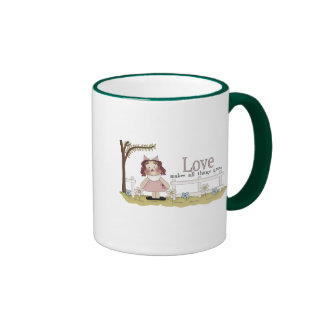 Love Makes All Things Grow Tshirts and Gifts Ringer Coffee Mug