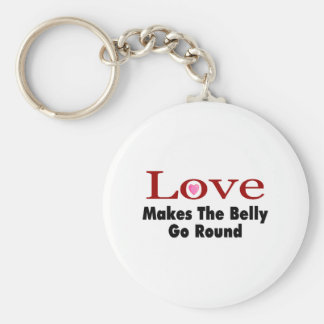 Love Makes The Belly Go Round Keychain