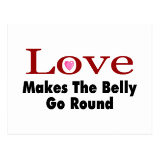 Love Makes The Belly Go Round Postcard