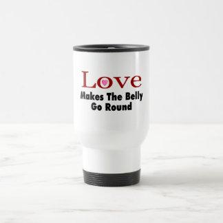 Love Makes The Belly Go Round Travel Mug