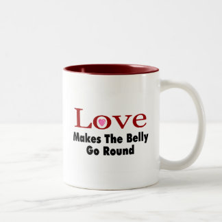 Love Makes The Belly Go Round Two-Tone Coffee Mug