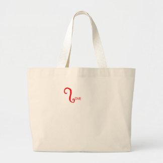 Love makes the heart flutter jumbo tote bag