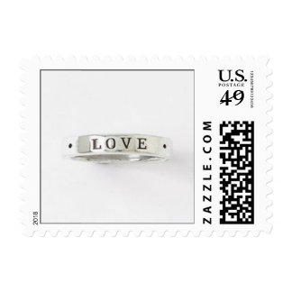 Love Makes the Ring Go Round Postage Stamp