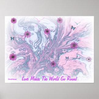 LOVE MAKES THE WORLD GO AROUND PRINT