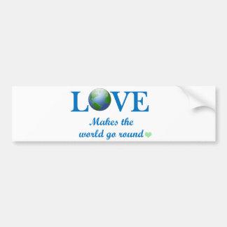 Love Makes The World Go Round Bumper Sticker