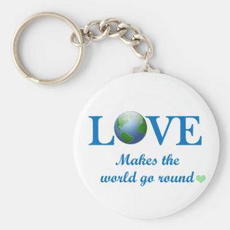 Love Makes The World Go Round Keychain