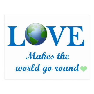 Love Makes The World Go Round Postcard