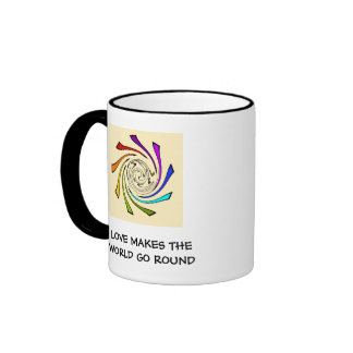 love makes the world go round/repeal prop 8 ringer coffee mug