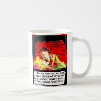 LOVE MAKING AND A FART COMING COFFEE MUG