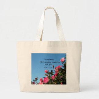 Love making memories with you... jumbo tote bag