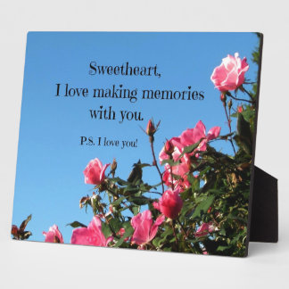 Love making memories with you... photo plaques