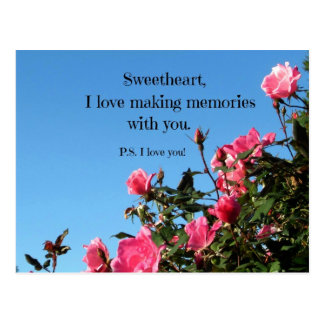 Love making memories with you... postcard