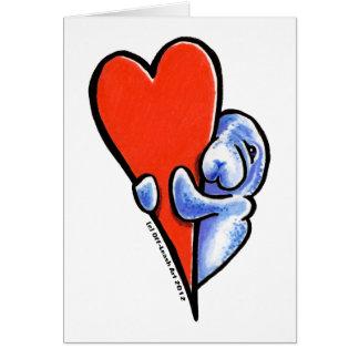 Love Manatees Greeting Card
