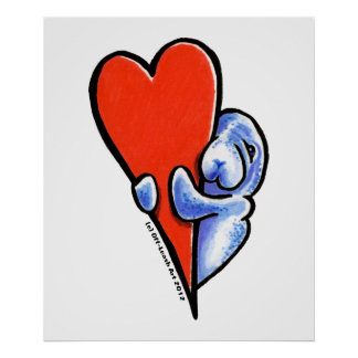 Love Manatees Poster