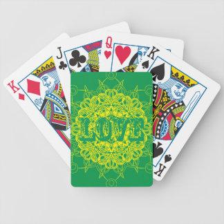 Love Mandala Design Bicycle Playing Cards