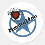 Love Manhattan Classic Round Sticker
