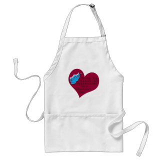 LOVE MARINE AFGHAN VAL DAY ADULT APRON