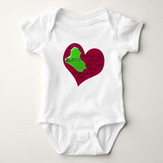 LOVE MARINE IRAQ VAL DAY BABY BODYSUIT