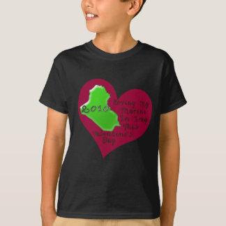 LOVE MARINE IRAQ VAL DAY T-Shirt