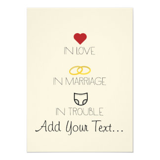 Love, Marriage and Trouble Zh51b Card
