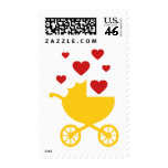 Love Marriage Baby Carriage Shower Invite Postage