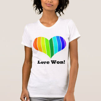 LOVE Marriage Equality Rainbow Heart T-Shirt