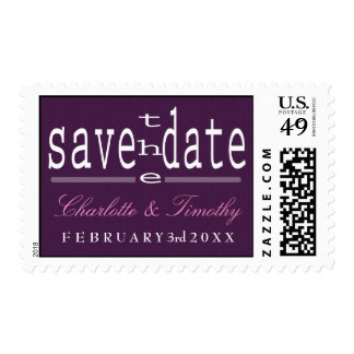 Love & Marriage Modern Wedding Save the Date Postage