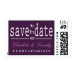 Love & Marriage Modern Wedding Save the Date Postage Stamps