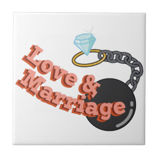 Love & Marriage Small Square Tile