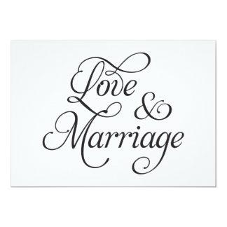 "Love & Marriage Wedding Card 5"" X 7"" Invitation Card"