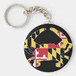 Love Maryland Basic Round Button Keychain