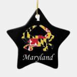 Love Maryland Christmas Tree Ornaments