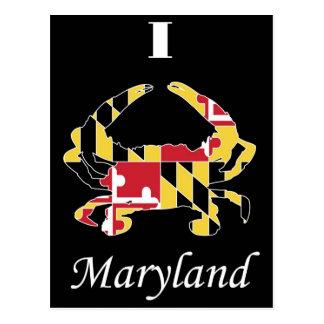 Love Maryland Crab Postcard
