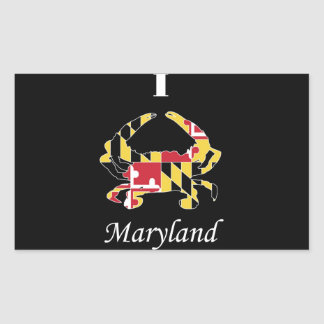 Love Maryland Crab Rectangular Sticker