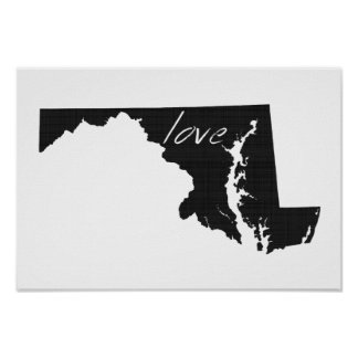 Love Maryland Poster