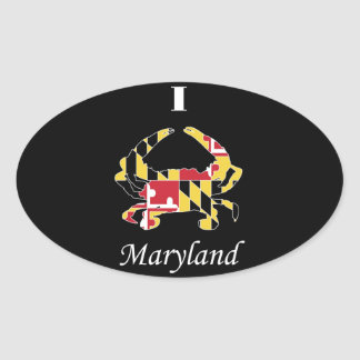 Love Maryland Oval Stickers