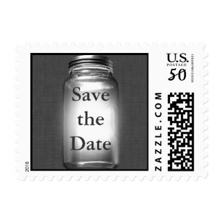 Love Mason Jars Save the Date Stamp