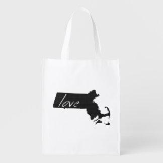 Love Massachusetts Grocery Bag