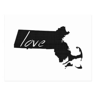Love Massachusetts Postcard
