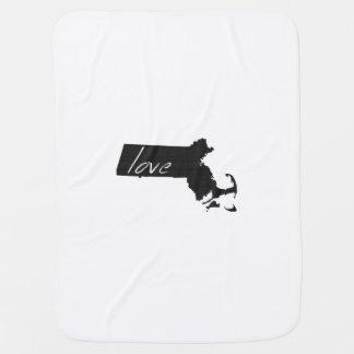 Love Massachusetts Receiving Blanket