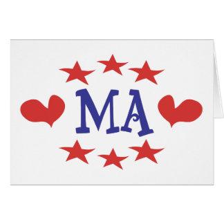 Love Massachusetts - Thanks MA and Senator Brown Greeting Card