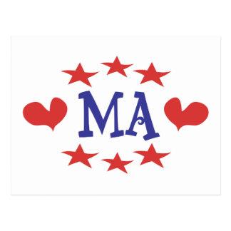 Love Massachusetts - Thanks MA and Senator Brown Postcard