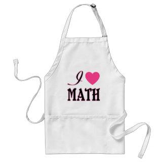Love Math Pink Heart Logo Adult Apron