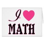 Love Math Pink Heart Logo Card