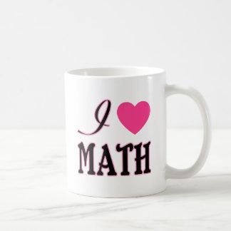 Love Math Pink Heart Logo Coffee Mug