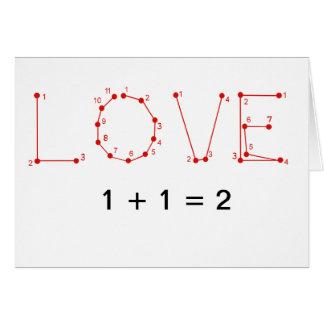 Love Math Valentines Day Card