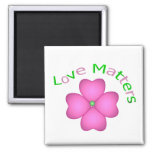 Love Matters 2 Inch Square Magnet