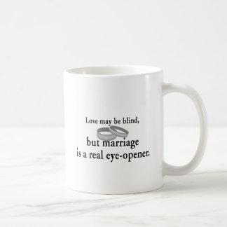 Love May Be Blind Classic White Coffee Mug