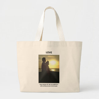 love-may-conquer-all-but-its-shelf-life-is-only tote bag